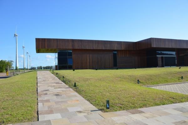 Centro de visitantes no Parque Eólico